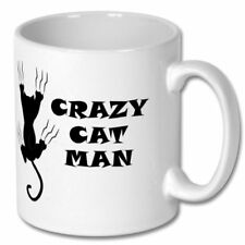 Mug Crazy Cat Man Gift Funny Coffee Cup Personalised Humour Tea Novelty