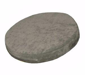 ma18r Ash Grey Chenille 3D Round Shape Thick Seat Cushion Cover Custom Siz