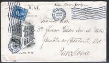 Puerto Rico 1913. Carta de San Juan a Barcelona via New York.