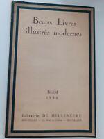 BEAUX LIVRES ILLUSTRES MODERNES BLIM 1936 LIBRAIRIE DE MEULENEERE BRUXELLES