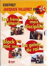 Coffret Jacques Villeret 4 DVD Frere Petards, Bete Mais Discipline, Black ....