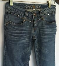 Cest Toi Juniors Jeans Size 1 Embellished is Medium Wash