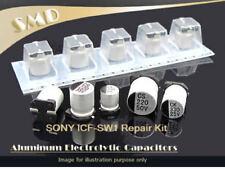 Sony ICF Radio SW1 100% Panasonic Condensateurs Complet Kit De Réparation + mémoire de sauvegarde