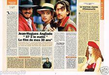 Coupure de presse Clipping 1993 (1 page 1/2) Jean Hugue Anglade 37°2 le matin