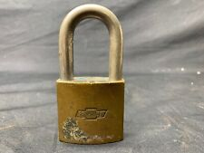 Vintage BEST Chevrolet Flint Engine Padlock / Lock, NO KEY #8