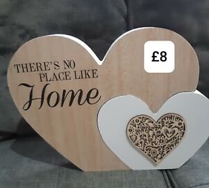 Heart Ornament wooden theres no place like home