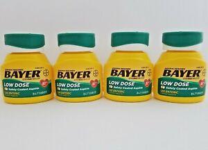 Bayer Aspirin Regimen 81mg Low Dose Safety Coated 120 Tablets (4 Pack) 1/22+