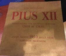 Pope PIUS XII 78 RPM Picture Disc & Folder from 1950