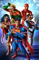 SUPERMAN #75 GREG HORN VIRGIN VARIANT NM WONDER WOMAN FLASH AQUAMAN CYBORG DC