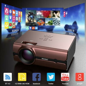 4K WiFi 1080P Full HD Smart 3D LED Projector Home Theater Cinema VGA USB SD HDMI