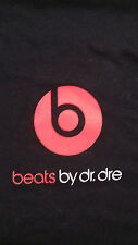 Beats by Dr. Dre Black T-Shirt with Red Logo 100% Cotton M/L/XL