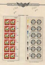 USA 1978 MNH 2 PLATE BLOCKS OF (12) CHRISTMAS