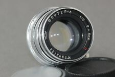 🔥Early Jupiter-8 🔥2/50mm Russian Lens Leica LTM M39 Sonnar copy +Ring M42 CLA.