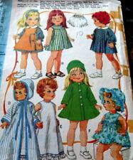 "GREAT VTG 1960s Medium 14""-18"" DOLL CLOTHING SEWING PATTERN"