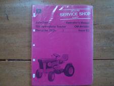 John Deere 120 Hydrostatic Tractor Operator's Manual