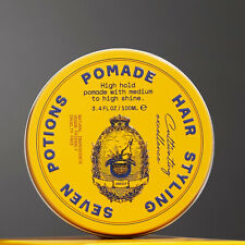 Seven Potions Hair Styling Pomade High Hold 100ml, Natural, Vegan, Cruelty Free