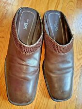 The Sak Elliott Lucca womens brown leather slip on shoes size:8.5