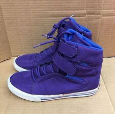 Mens Supra TK Society Purple White Royal Blue Size 10 High Hi Top Sneakers Shoes