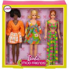 2018 Barbie Mod Friends Gift Set 1968  Reproduction  Mattel #FRP00-GOLD LABEL