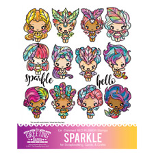 Sparkle Kit-The Greeting Farm Rubber Stamp-Stamping Craft-Magical-Mermaid Bean