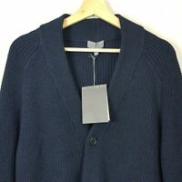 WITCHERY Mens Size L Navy Hudson Cardigan NEW + TAGS rrp$169.95