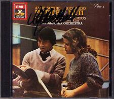 Anne-Sophie MUTTER Signed MOZART Violin Concerto No.2 & 4 RICCARDO MUTI CD EMI