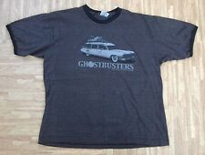 Ghostbusters Ecto-1 Car Ringer Shirt ~ Men's XL ~ Dark Gray Movie Film Shirt