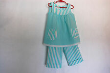 *Handcrafted*  Long Pants & Top - Turquois - for Girls 4 (four) YEARS