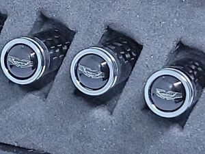 Aston Martin Silver Logo Carbon Fiber Tire Valve Caps- Perfect Gift!