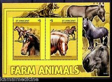 Arabian Horses, Farm Animals, St Vincent & The Grenadines 2014  MNH SS (H9n)