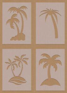 Palm Trees Beach Summer Stencil Mixed Designs A6 A5 A4 A3 Crafting DIY