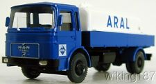 "WIKING NEW HO 1/87 MAN 2-axle Fuel Delivery Truck ""ARAL"""