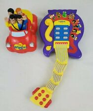 2003 Old Wiggles Big Red Car &2004 Purple Musical Guitar Tested/Fully Functional