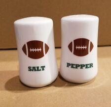 Football Salt and Pepper Shakers Gartner Studios White NEW IN BOX