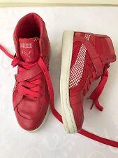Women's Puma Hi High Top Size 6 1/2 The Key M Pink Fuchsia dance sneakers Urban