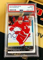 2018 Upper Deck Young Guns #469 Joe Hicketts RC Rookie PSA 10 Gem Mint Red Wings