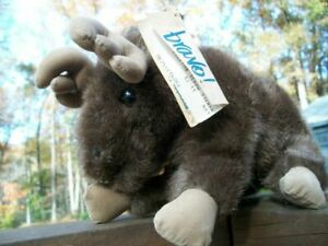 "Applause *Myrtle*, 9"" x 6"" plush moose, Mint With Tags"