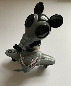 Ron English Mouse Mask Murphy In Plane Vinyl Toy Damaged Made By Monsters