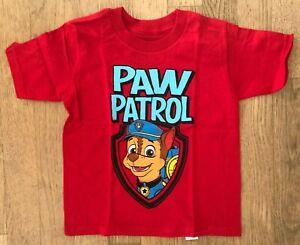 Nickelodeon PAW Patrol Toddler T-Shirt BNWT Red