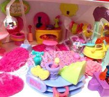 Littlest Pet Shop Lot 12 RANDOM Hotel Salon Bathroom Accessories + 1 Dog or Cat