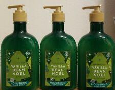 Bath and Body Works Vanilla Bean Noel Nourishing Hand Soap 8 oz each - LOT OF 3