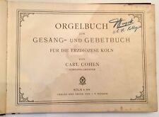 Carl COHEN Orgelbuch zum gesaneerd une gebetbuch 1905 plate J.P.B.5 Köln Germany