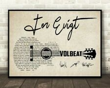 """Volbeat For Evigt Lyrics Horizontal Paper Poster 16""""x24"""" Without Frame"""