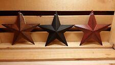 "5.5"" Metal Barn Stars, Set of 3 - Black, Burgundy, Rusty ~ Primitive, Country"