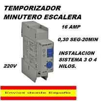 TEMPORIZADOR MINUTERO DE ESCALERA 30 SEGUNDOS HASTA 20 MIN 220V 16A.