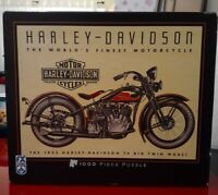 Harley Davidson 1000 Piece Puzzle By FX Schmid  Approx 27×20 IN.