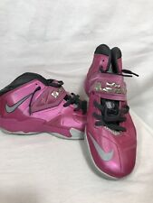 Nike Zoom Lebron James Breast Cancer Awareness Pink Basketball Shoes Mens 11.5