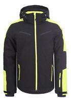 Icepeak Herren Wintersport Skijacke Ski Jacke Winterjacke Fieldon schwarz gelb