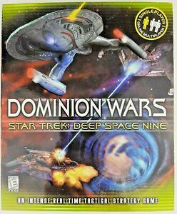 NEW SEALED Star Trek Deep Space Nine Dominion Wars PC CD-ROM Video Game in Box