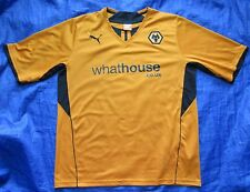 WOLVERHAMPTON Wanderers WOLVES home shirt jersey PUMA 2013-2014 adult SIZE XL